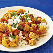 Indian-Style Tofu and Cauliflower with Chutney Recipe