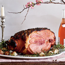 Baked Ham with Rosemary and Sweet Vermouth Recipe