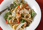 Peppery Pasta with Arugula and Shrimp Recipe
