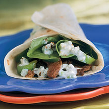 Hot Skillet Sirloin Wraps with Blue Cheese Recipe