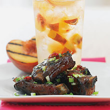 Peach and Ginger Glazed Riblets Recipe