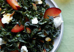 Tuscan Kale with Almonds, Plums, and Goat Cheese Recipe