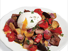 Steak Hash with Poached Eggs Recipe