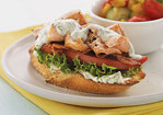 Open-Faced Salmon BLTs Recipe