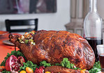 Roasted Turkey Stuffed with Hazelnut Dressing Recipe