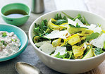Summer Squash Carpaccio and Shaved Cheese Salad Recipe