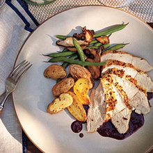 Roasted Breast of Chicken with Pinot Noir Sauce Recipe