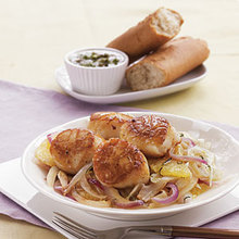 Seared Scallops with Sautéed Fennel, Orange, and Red Onion Recipe