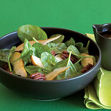 Candied Pecan, Pear, and Spinach Salad Recipe