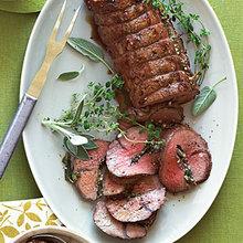Grilled Beef Tenderloin with Fresh Herbs Recipe
