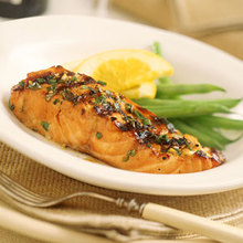 Grilled Orange-and-Bourbon Salmon Recipe