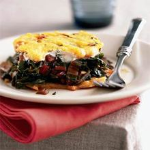 Baked Cheese Polenta with Swiss Chard Recipe