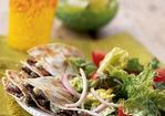 Flank Steak-and-Blue Cheese Quesadilla Salad Recipe