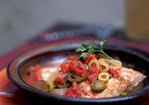 Filetes de Pescado a la Veracruzana (Fish Fillets Braised with Tomatoes, Capers, Olives, and Herbs) Recipe