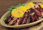 Coriander-Rubbed Duck Breasts with Glazed Oranges Recipe