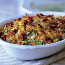 Corn Bread Dressing with Oysters and Ham Recipe