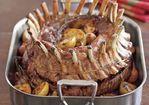 Crown Roast of Pork with Calvados Sauce Recipe