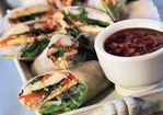 Fresh Spring Rolls with Hoisin-Peanut Dip (Goi Cuon) Recipe