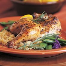 Grilled Cornish Hens with Lavender Honey Grilling Sauce Recipe