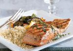 Grilled Salmon with Lemon Oil and Basil Recipe