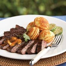 Grilled Skirt Steak with Chili-Lime Butter Recipe