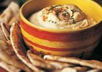 Hummus with Grilled Pita Bread Recipe