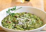 Leek & Pancetta Risotto with Fines Herbes Recipe
