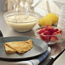 Lemon Crepes with Strawberries, Jam and Mascarpone Recipe