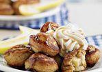 Banana-Filled Graham Cracker Pancakes Recipe