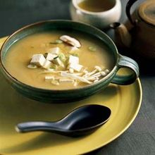 Miso Soup with Tofu and Mushrooms Recipe