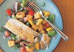 Panfried Trout with Warm Corn Bread Salad Recipe