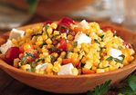 Pan-Roasted Corn Salad with Tomatoes and Feta Recipe