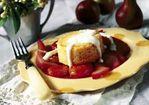 Polenta Custard with Port-Stewed Autumn Fruits Recipe