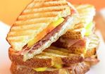 Prosciutto, Goat Cheese & Peach Panini Recipe