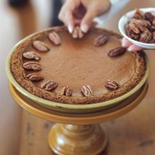 Pumpkin Pie with Candied Pecans Recipe