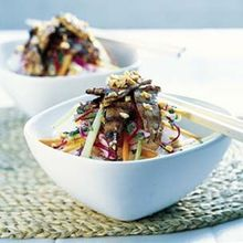 Rice Stick Noodles with Grilled Pork Recipe