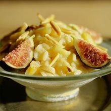Risotto with Figs and Almonds Recipe