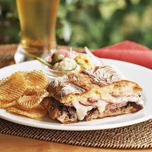 Roast Beef & Balsamic Onion Panini with Chipotle Chips Recipe