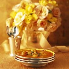 Roasted Tomato Soup with Tiny Meatballs and Rice Recipe