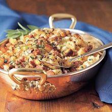 Sausage, Corn Bread and Chestnut Dressing Recipe