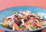 Shrimp and Cabbage Slaw with Chili Sauce and Lime Recipe