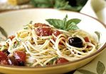 Spaghetti with Toasted Garlic-Tomato Sauce Recipe