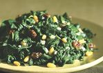 Spinach Sauted with Raisins and Pine Nuts Recipe