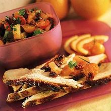 Turkey Breast with Dried Cranberry Salsa Recipe