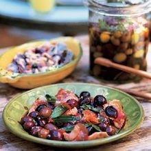 Warm Black Olives (Olives Sautées) Recipe