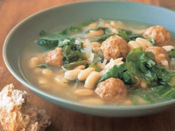 White Bean And Escarole Soup With Turkey Meatballs Recipe from ...