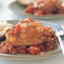Braised Chicken, Tomatoes and Bacon Recipe