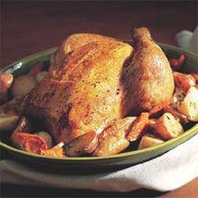 Brined Roast Chicken with Wine Jus Recipe