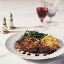 Caramelized Veal Chops with Balsamic Syrup Recipe