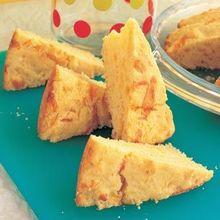 Cheddar Corn Bread Wedges Recipe